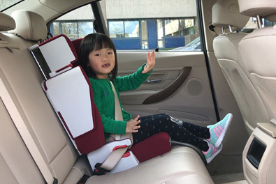 foldable car seat, travelling bed, purse, booster seat